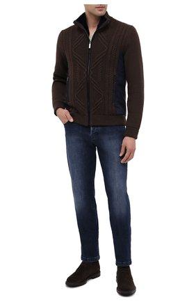 Мужская куртка с меховой подкладкой ZILLI коричневого цвета, арт. MBU-NC205-CACL1/ML03   Фото 2