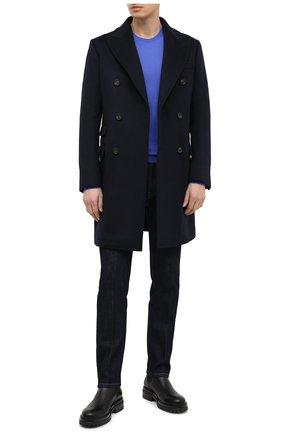Мужской кашемировый джемпер RALPH LAUREN синего цвета, арт. 790509395 | Фото 2