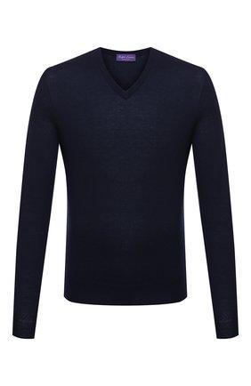 Мужской кашемировый пуловер RALPH LAUREN темно-синего цвета, арт. 790509349 | Фото 1