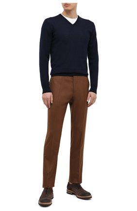 Мужской кашемировый пуловер RALPH LAUREN темно-синего цвета, арт. 790509349 | Фото 2