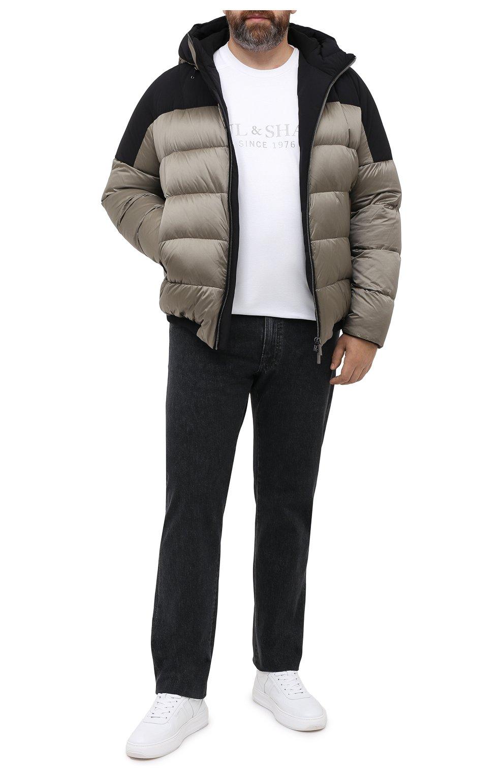 Мужская пуховая куртка MOORER хаки цвета, арт. RICCARD0-SHK/A20M490N0TE   Фото 2