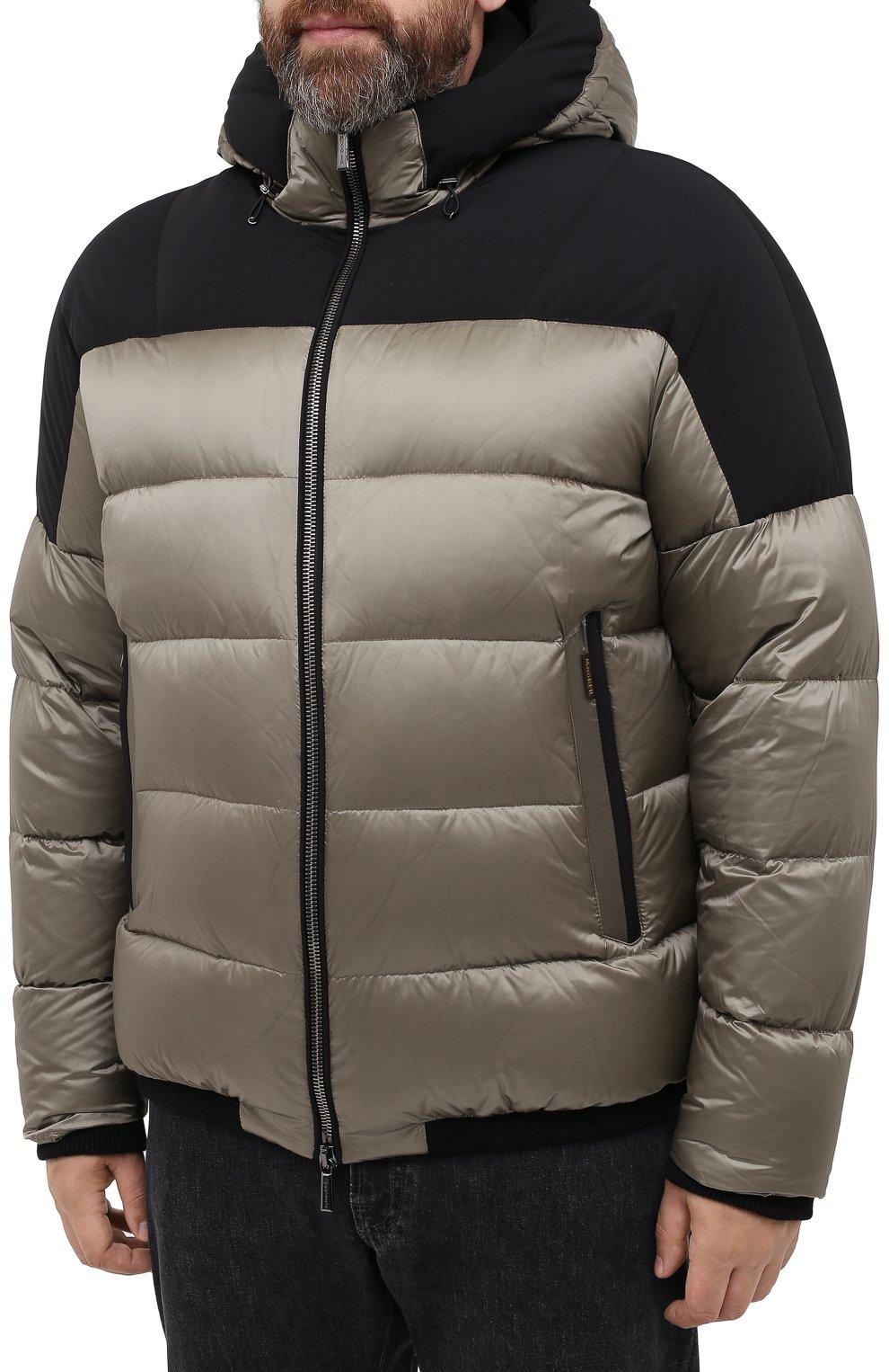 Мужская пуховая куртка MOORER хаки цвета, арт. RICCARD0-SHK/A20M490N0TE   Фото 3