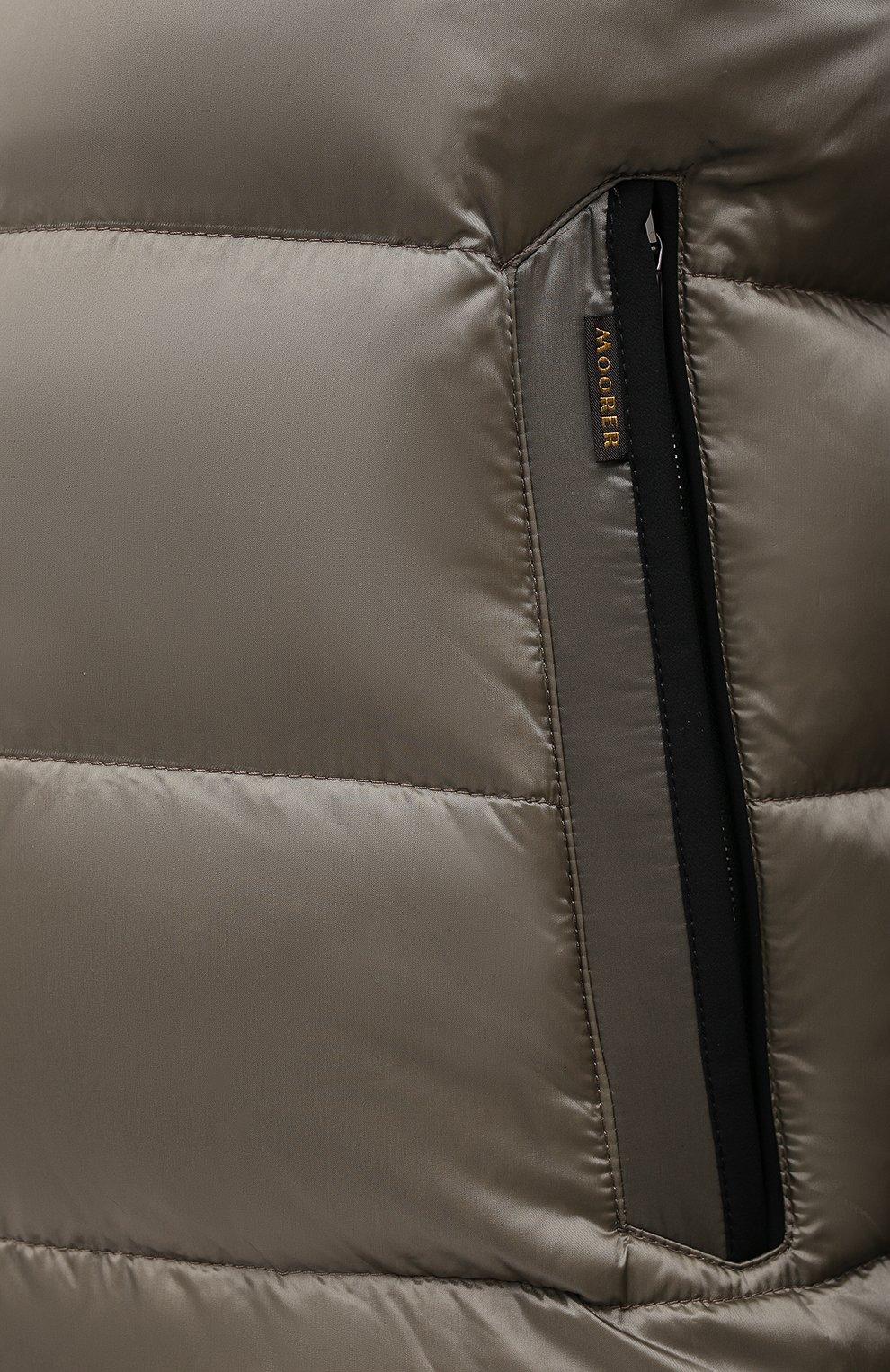 Мужская пуховая куртка MOORER хаки цвета, арт. RICCARD0-SHK/A20M490N0TE   Фото 5