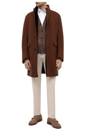 Мужская комбинированный кардиган RALPH LAUREN коричневого цвета, арт. 790776068 | Фото 2