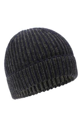 Мужская кашемировая шапка LORO PIANA темно-синего цвета, арт. FAL4449 | Фото 1