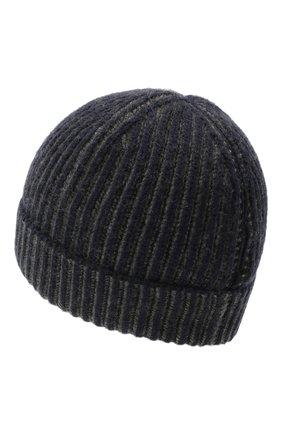 Мужская кашемировая шапка LORO PIANA темно-синего цвета, арт. FAL4449 | Фото 2