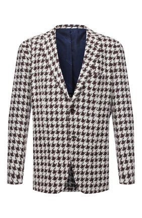 Мужской пиджак из кашемира и шелка KITON коричневого цвета, арт. UG81K01T15   Фото 1
