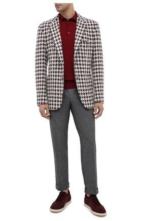 Мужской пиджак из кашемира и шелка KITON коричневого цвета, арт. UG81K01T15   Фото 2
