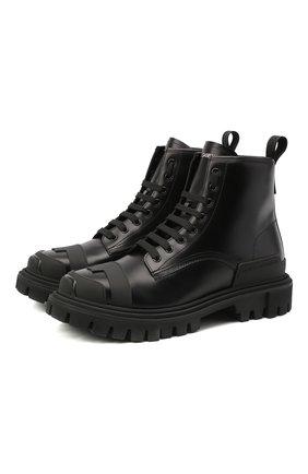 Мужские кожаные ботинки DOLCE & GABBANA черного цвета, арт. CS1807/AW202 | Фото 1