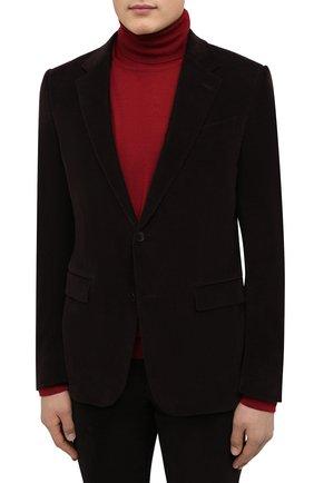 Мужской костюм из хлопка и кашемира ERMENEGILDO ZEGNA коричневого цвета, арт. 871517/221225 | Фото 2