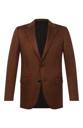 Мужской кашемировый пиджак ERMENEGILDO ZEGNA светло-коричневого цвета, арт. 869534/121220 | Фото 1