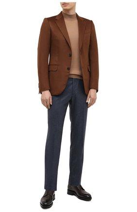 Мужской кашемировый пиджак ERMENEGILDO ZEGNA светло-коричневого цвета, арт. 869534/121220 | Фото 2