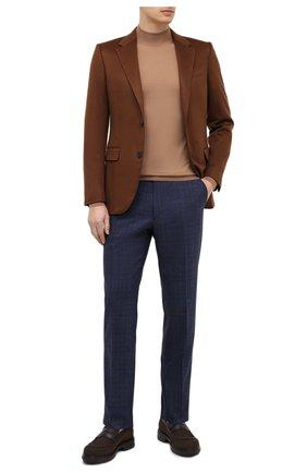 Мужские кожаные пенни-лоферы ERMENEGILDO ZEGNA коричневого цвета, арт. A4580X-LHGUE | Фото 2