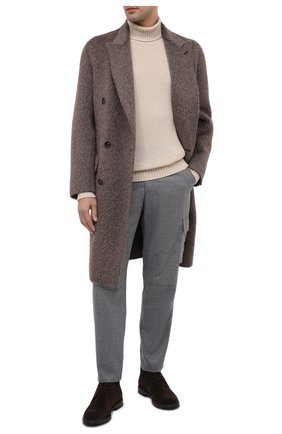 Мужские шерстяные брюки-карго BRIONI серого цвета, арт. RPAB0L/0ZA0J/RANGIR0A | Фото 2 (Длина (брюки, джинсы): Стандартные; Материал внешний: Шерсть; Силуэт М (брюки): Карго; Случай: Повседневный; Стили: Кэжуэл)