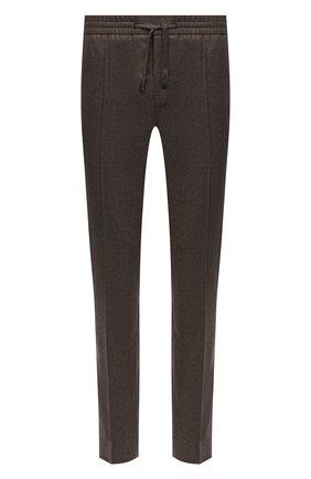 Мужские брюки из шерсти и кашемира BRIONI коричневого цвета, арт. RPM20L/08AB3/NEW SIDNEY | Фото 1