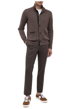 Мужские брюки из шерсти и кашемира BRIONI коричневого цвета, арт. RPM20L/08AB3/NEW SIDNEY | Фото 2