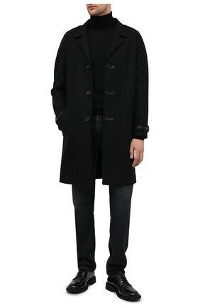 Мужской шерстяное пальто SAINT LAURENT черного цвета, арт. 626834/Y1B71 | Фото 2