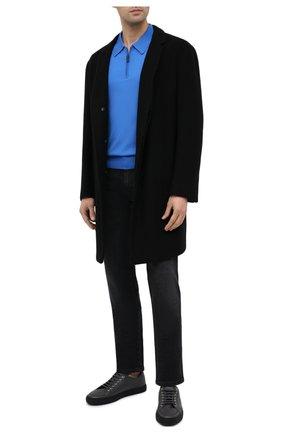 Мужское шерстяное поло BRIONI голубого цвета, арт. UMS10L/0ZK28 | Фото 2