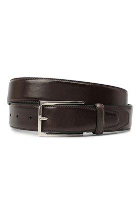 Мужской кожаный ремень BRIONI темно-коричневого цвета, арт. 0BAV0L/P9739 | Фото 1