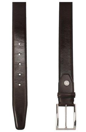Мужской кожаный ремень BRIONI темно-коричневого цвета, арт. 0BAV0L/P9739 | Фото 2