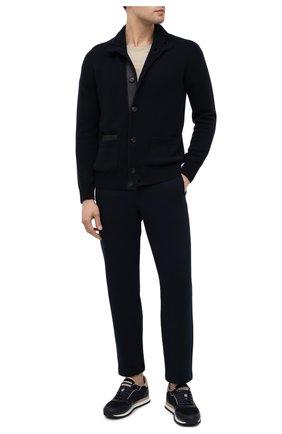 Мужские хлопковые брюки BRIONI темно-синего цвета, арт. UJDJ0L/09630 | Фото 2