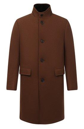 Мужской пальто из шерсти и кашемира ERMENEGILDO ZEGNA коричневого цвета, арт. 877010/42PCS0 | Фото 1