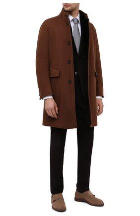 Мужской пальто из шерсти и кашемира ERMENEGILDO ZEGNA коричневого цвета, арт. 877010/42PCS0 | Фото 2