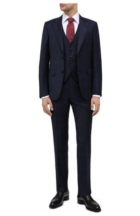 Мужской костюм-тройка из шерсти и шелка ERMENEGILDO ZEGNA темно-синего цвета, арт. 816546/327B25 | Фото 1