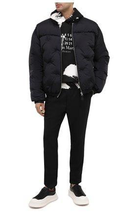 Мужские шерстяные брюки ERMENEGILDO ZEGNA черного цвета, арт. 8CFG17/75XEN2 | Фото 2