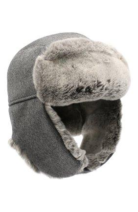 Мужская шапка из меха кролика ERMENEGILDO ZEGNA серого цвета, арт. Z8I22/B2H | Фото 1