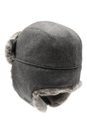 Мужская шапка из меха кролика ERMENEGILDO ZEGNA серого цвета, арт. Z8I22/B2H | Фото 2