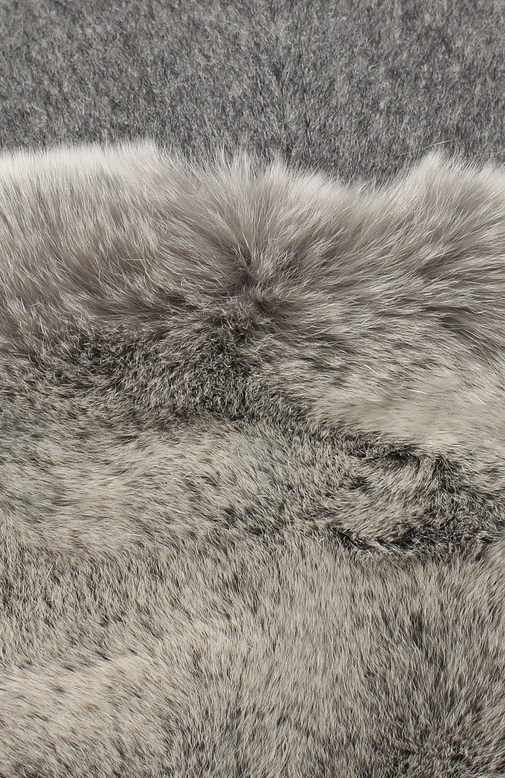 Мужская шапка из меха кролика ERMENEGILDO ZEGNA серого цвета, арт. Z8I22/B2H   Фото 3