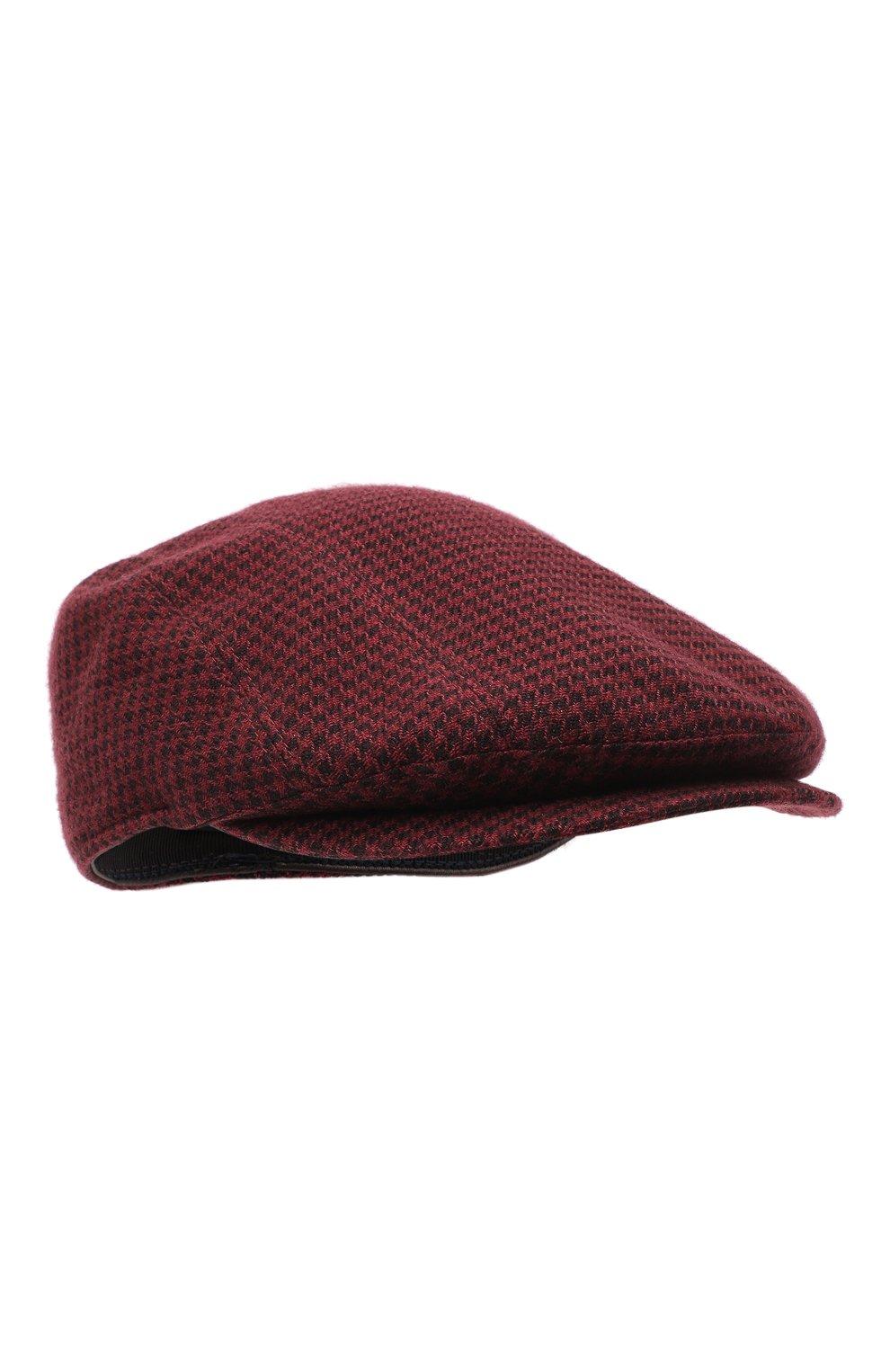 Мужская кепи из шерсти и кашемира ERMENEGILDO ZEGNA бордового цвета, арт. Z8I13/B8L | Фото 1