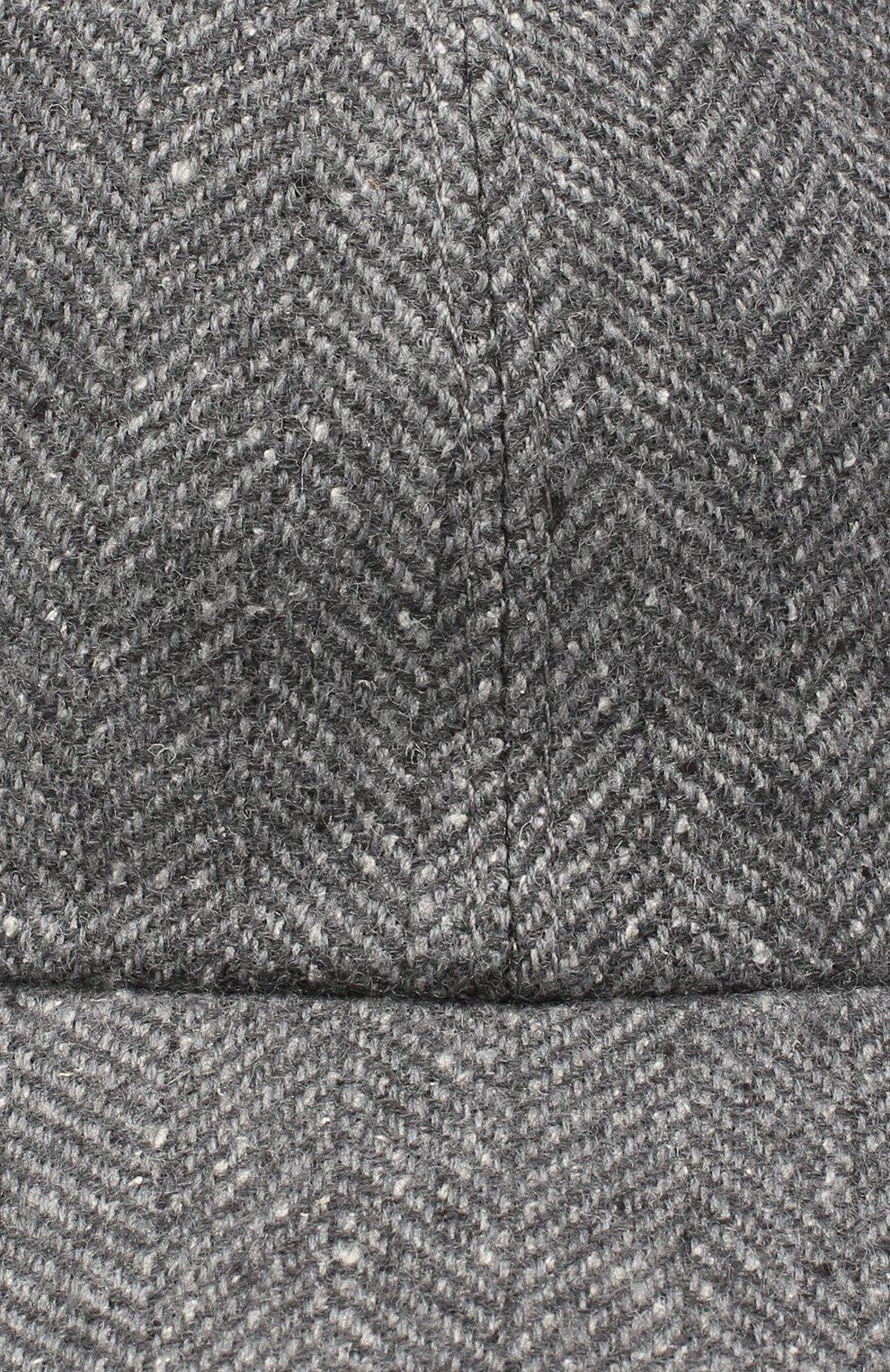 Мужской бейсболка из шерсти и шелка ERMENEGILDO ZEGNA светло-серого цвета, арт. Z8I03/B8E   Фото 3