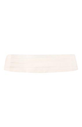 Мужской шелковый камербанд ERMENEGILDO ZEGNA белого цвета, арт. Z8D61/5S7 | Фото 1