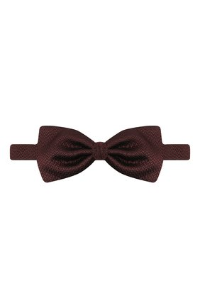 Мужской шелковый галстук-бабочка ERMENEGILDO ZEGNA бордового цвета, арт. Z8D61/4SH | Фото 1