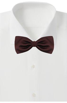 Мужской шелковый галстук-бабочка ERMENEGILDO ZEGNA бордового цвета, арт. Z8D61/4SH | Фото 2