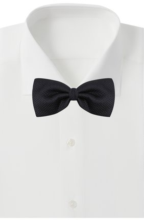 Мужской шелковый галстук-бабочка ERMENEGILDO ZEGNA темно-синего цвета, арт. Z8D61/4SH | Фото 2
