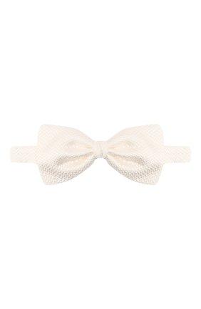 Мужской шелковый галстук-бабочка ERMENEGILDO ZEGNA белого цвета, арт. Z8D61/4SH | Фото 1