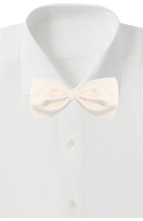 Мужской шелковый галстук-бабочка ERMENEGILDO ZEGNA белого цвета, арт. Z8D61/4SH | Фото 2