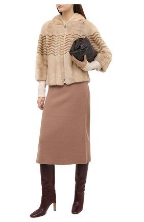 Женская шуба из меха норки LORO PIANA бежевого цвета, арт. FAF0833 | Фото 2