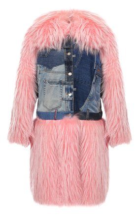 Женская комбинированная шуба DOLCE & GABBANA розового цвета, арт. F0W22F/GDK05 | Фото 1