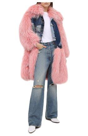 Женская комбинированная шуба DOLCE & GABBANA розового цвета, арт. F0W22F/GDK05 | Фото 2