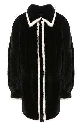 Женская шуба из меха норки KUSSENKOVV черного цвета, арт. 742802079548 | Фото 1