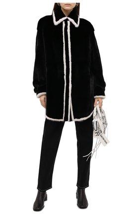 Женская шуба из меха норки KUSSENKOVV черного цвета, арт. 742802079548 | Фото 2