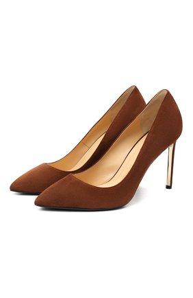 Женские замшевые туфли RUBEUS MILANO коричневого цвета, арт. RU7/2 | Фото 1
