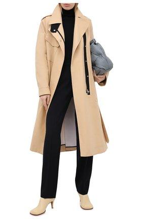 Женские шерстяные брюки JIL SANDER темно-синего цвета, арт. JSWR305800-WR202000 | Фото 2