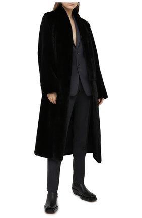 Женская шуба из меха норки YVES SALOMON черного цвета, арт. 7WYM75720VLVR/BLACK/48 | Фото 2