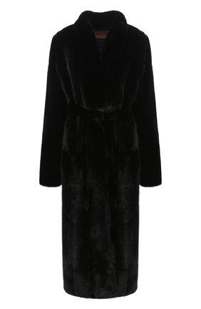 Женская шуба из меха норки YVES SALOMON черного цвета, арт. 7WYM75720VLVR/BLACK/52 | Фото 1