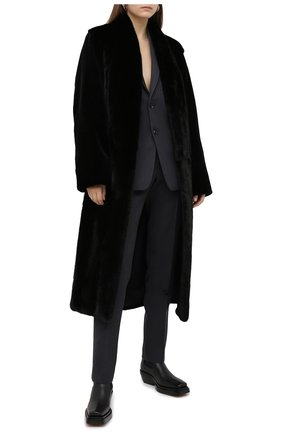 Женская шуба из меха норки YVES SALOMON черного цвета, арт. 7WYM75720VLVR/BLACK/52 | Фото 2